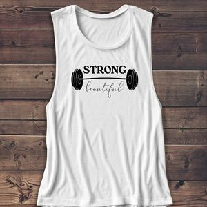 Tops - STRONG IS BEAUTIFUL GYM TANK MUSCLE